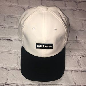 Black White Adidas running hat